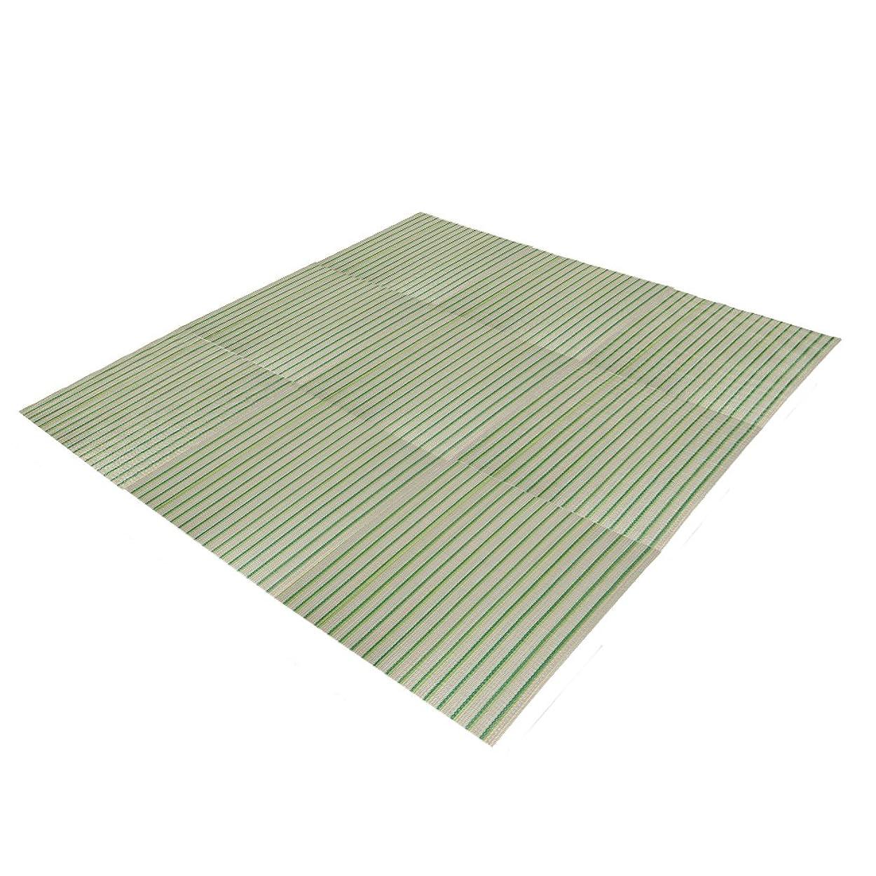 屋内でブローインレイ(OSJ) い草 置き畳 ユニット畳 い草のフローリング畳 58×58イ草マット 9枚セット ラグ (ブルー)