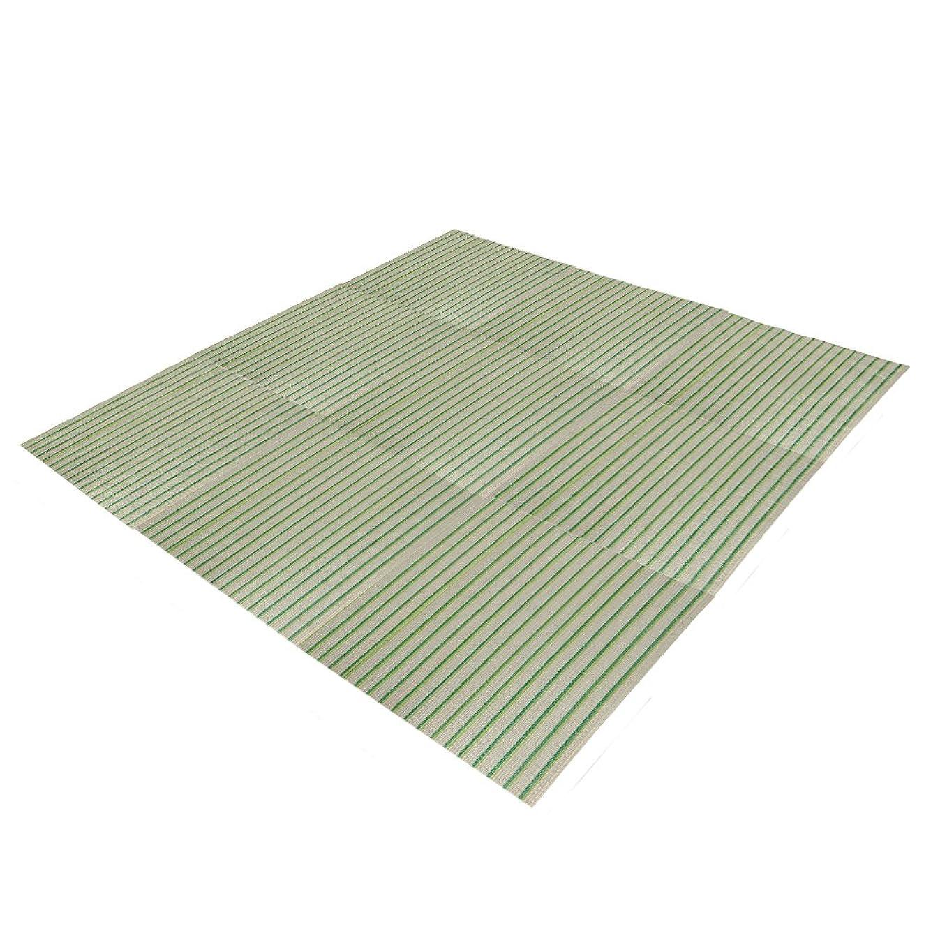 シーフード損失文言(OSJ) い草 置き畳 ユニット畳 い草のフローリング畳 58×58イ草マット 9枚セット ラグ (ブルー)