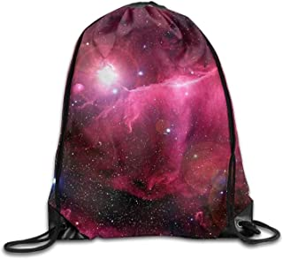 AOOPK Drawstring Gym Backpack bag Galaxy Space Rose Waterproof Bunch Backpack For Men And Women