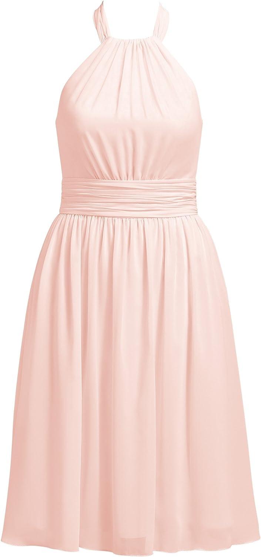 Alicepub Halter Bridesmaid Dresses Cocktail Evening Party Dress Short