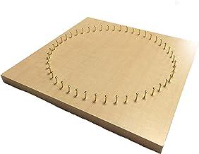 糸かけ曼荼羅制作用48ピン板 (20cm角・ナチュラル木目) ピン打ち板 糸かけアート マンダラアート