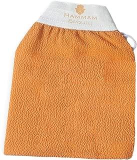 Hammam Beauty Moroccan Kessa Body and Facial Exfoliating Glove (Body Glove, Orange)