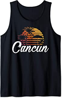 Cancun Mexico Beach Palm Tree Design Party Destination Gift Tank Top