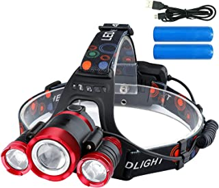ZHENWEI LEDヘッドライト 12000ルーメン USB充電式