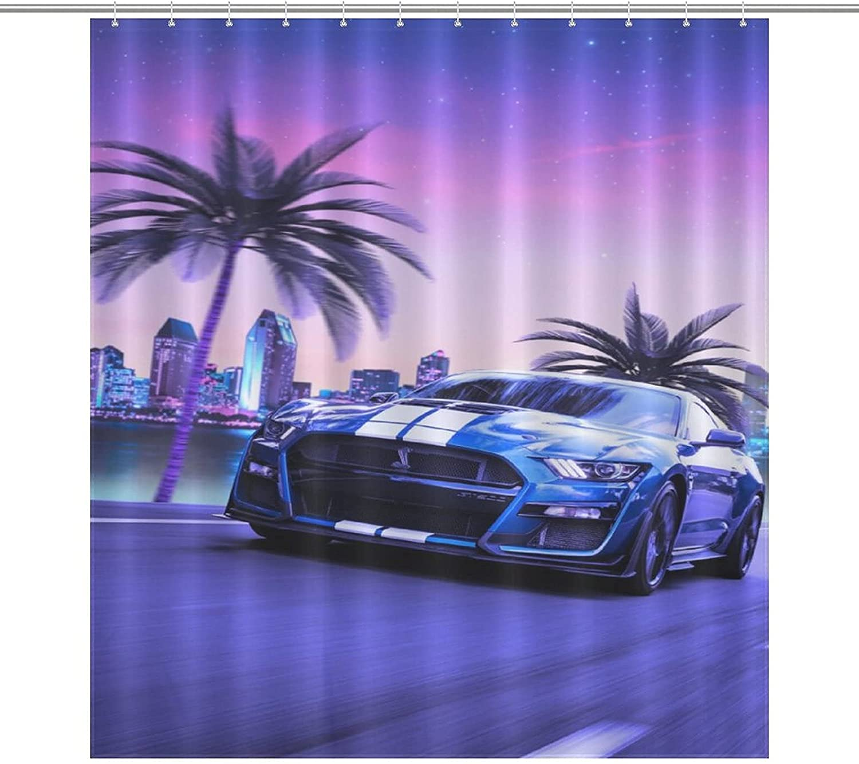 Kids Dedication Shower Curtain,Car Popular Racingï¼ Manufacturer OFFicial shop Japanese Car JDM