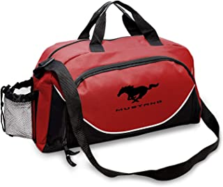CarBeyondStore - Ford Mustang Large Travel Carry on Duffel Bag (Red/Black)