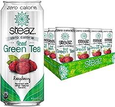 Steaz Zero Calorie Iced Green Tea, 16 OZ (Raspberry)
