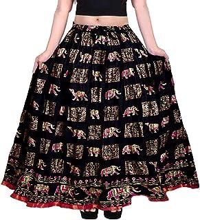 Khushi Print Women's Cotton Skirt (Multicolor)