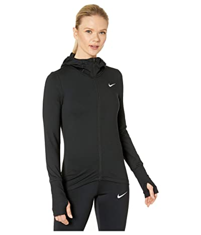 Nike Element Hoodie Full Zip (Black/Reflective Silver) Women