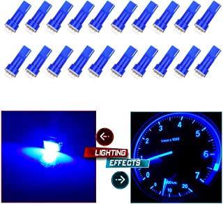 cciyu 20 Pack T5 58 70 73 74 Dashboard Gauge 5050SMD LED Wedge Lamp Bulb Light 6 Colors Fits 2005-2007 GMC Sierra 1500 1500 HD Yukon Yukon XL 1500 Sierra 1500 1500 HD 2500 HD 3500 (20pack blue)