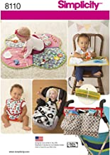 Simplicity 8110 Infant Playmat, Stroller Blanket, Stroller Organizer, and Baby Bib Sewing Pattern, 5 Pieces