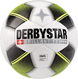 DERBYSTAR Brilliant TT Adults HS Football White/Black/Yellow, 5