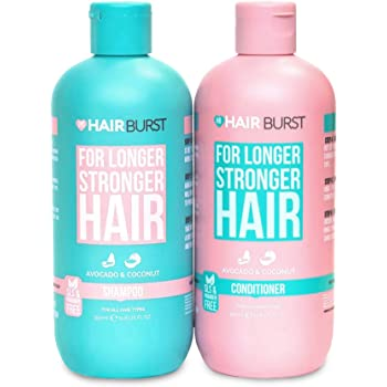 HAIRBURST SLS Free Shampoo and Conditioner for Longer Stronger Hair, Moisturizing Shampoo and Conditioner for All Hair Types,Parabens Free, Color Safe, 2 bottles x 350 mL