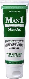 Man1 Man Oil Penile Health Cream - Advanced Care. Treat Dry, red, Cracked or Peeling penile Skin. Improves Sensation Over ...