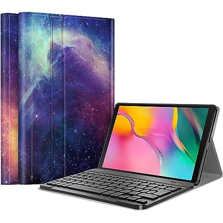FINTIE Funda con Teclado Español Ñ para Samsung Galaxy Tab A 10.1 2019 (SM-T510/T515) - Carcasa con Soporte y Teclado Bluetooth Inalámbrico Magnético ...