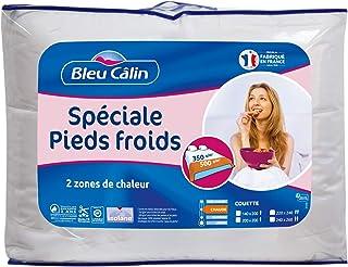 Bleu Câlin, Couette Spéciale Pieds Froids 2 Personnes, Chaude, 220x240 cm, KPF355