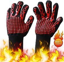 VINER Resistente a Altas temperaturas 800 Guantes BBQ Guantes de Fuego Retardante de Llama Antideslizante A Prueba de Fuego Parrilla Aislamiento Microondas Horno Guantes