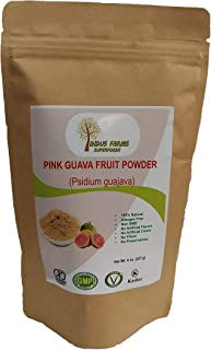 100% Natural Pink Guava Fruit Powder, 8 oz, Eco-friendly Resealable pouch, No Artificial Flavors/Preservatives/Fillers, Halal, Kosher, Vegan-Friendly, Non-GMO