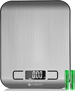 Etekcity Food Digital Kitchen Weight Scale Grams and Oz, Small, Stainless Steel(2019 Upgraded)