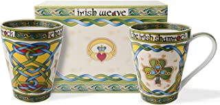 Irish Bone China 13oz Cup Set with Shamrock Gift Box