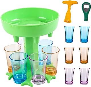 6 Shot Glass Dispenser and Holder -Dispenser For Filling Liquids, Shots Dispenser, Multiple 6 Shot Dispenser, Bar Shot Dis...