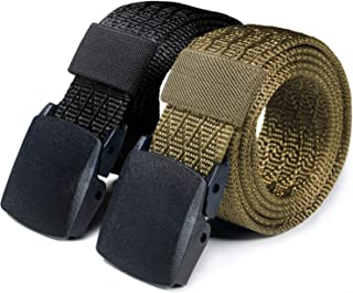 CQR 1 or 2 Pack Webbing Tactical Belt EDC 1.5 inches Plastic Lightweight Heavy Duty