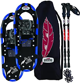 Redfeather Men's Series Hike 25 SV2 Snowshoes Kit, Ski Poles and Carry Bag - 147010KIT