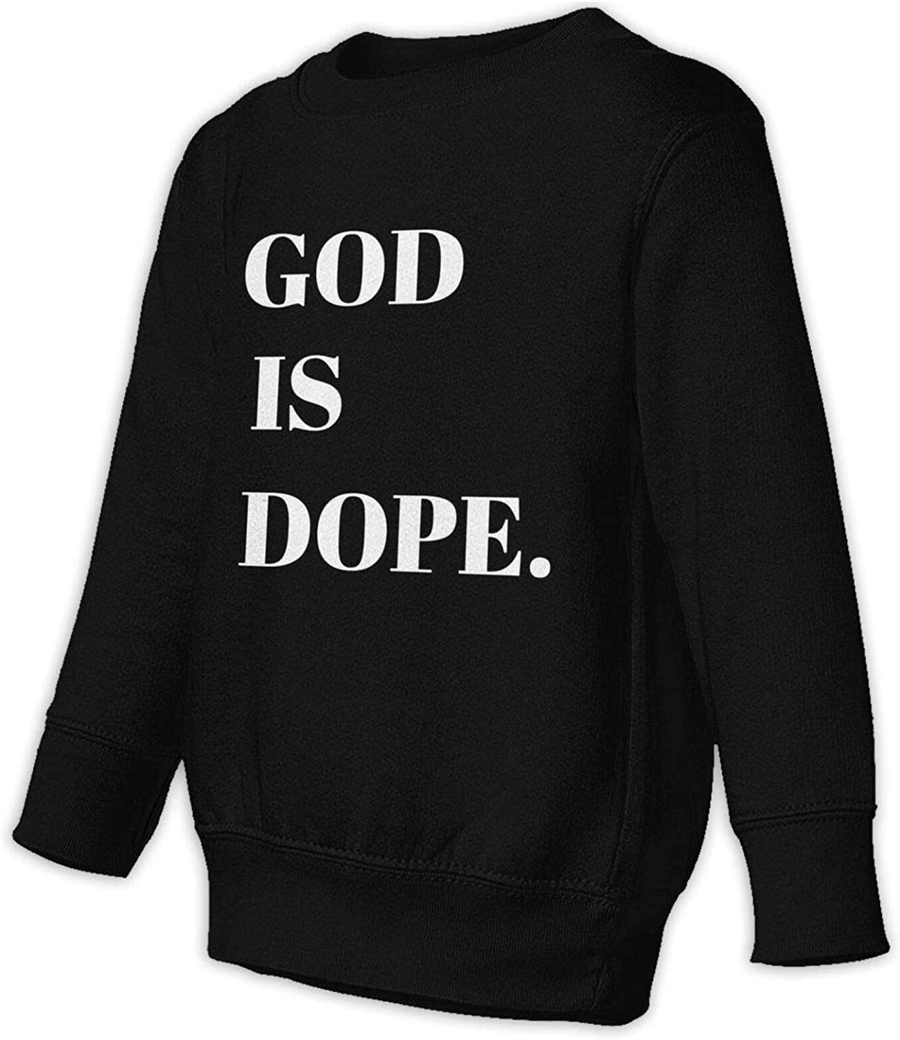 God Is Dope Kids Round Neck Fall Casual Baby Manufacturer OFFicial shop For Today's only Bo Sweater Tops