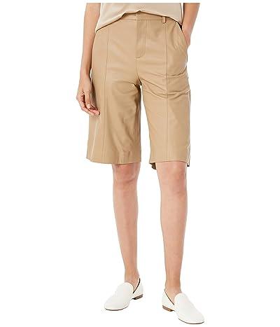 Vince Leather Shorts (Khaki) Women