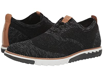 Hush Puppies Expert Wing Tip Knit (Black Multi Knit) Men