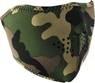 Zanheadgear WNFM118H Neoprene Half Face Mask (Woodland Camouflage)