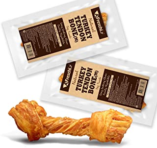 AFreschi Turkey Tendon for Dogs, Premium All-Natural, Hypoallergenic, Long-Lasting Dog Chew Treat, Easy to Digest, Alterna...