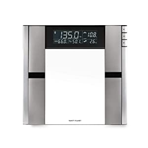 Vanity Planet Work It Digital Scale and Body Analyzer- Scales for Body Weight, Body Fat, Muscle Mass, Bone Density, Water Weight, 397 Pound Capacity, Silver, 1 Count (Pack of 1)