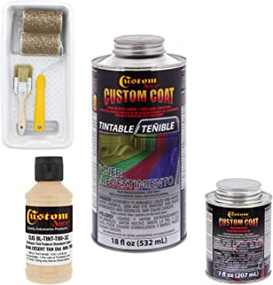 Custom Coat - Federal Standard Color# 33446 Desert Tan T80 - Camouflage Series Urethane Spray-On Truck Bed Liner & Texture Coating, 0.21 Gallon - with Roller Applicator Kit