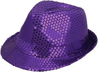 Jtc ACVIP Men Women Sequin Fedora Panama Hats Party Paillettes Cap Sun Jazz  Hat 8 Colors 98a1c80327d