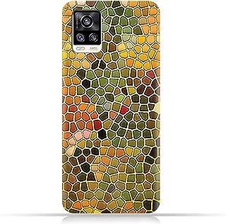 AMC Design TPU Mobile Case Cover for vivo V20 2021 with Glass Art Pattern