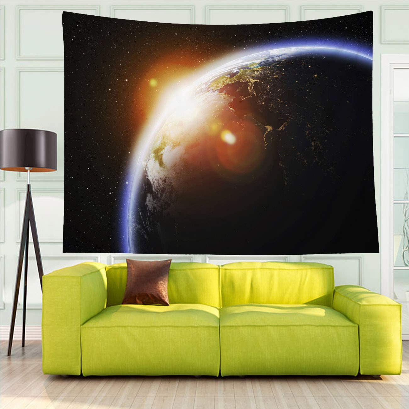 在庫一掃売り切りセール MinGz Wall Hanging 安全 Tapestry for Earth Versatile Planet