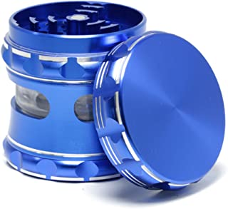 Aluminum alloy material CNC anodized 2.5 inch 5 layer herb grinder (blue)