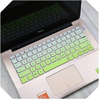 For Dell Inspiron 13 5390 5391 7390 7391 14 5000 5490 5493 5498 7490、Vostro 13 5390 5391 5490シリコンラップトップキーボードカバースキン-fadeblue-