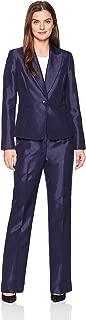 Women's Shiny 1 Bttn Peak Lapel Pant Suit