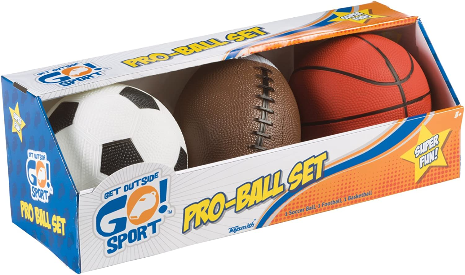 Toysmith Get Outside GO  ProBall Set, Pack of 3