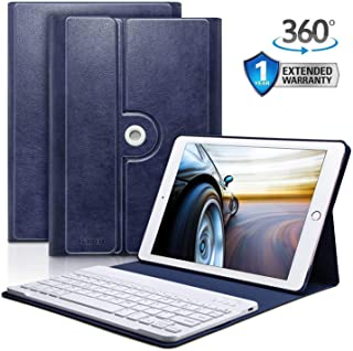 iPad 9.7 Keyboard Case for iPad 2018 (6th Gen) iPad 2017 (5th Gen) iPad Pro 9.7 iPad Air 2 Air 1 Bluetooth Pairing Keyboard Case