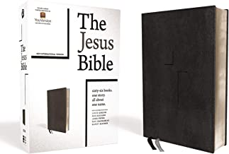 The Jesus Bible, NIV Edition, Leathersoft, Black, Thumb Indexed, Comfort Print