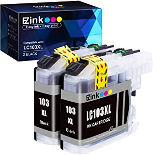 E-Z Ink (TM) Compatible Ink Cartridge Replacement for Brother LC-103XL LC103XL LC103 XL LC103BK High Yield to use with DC...