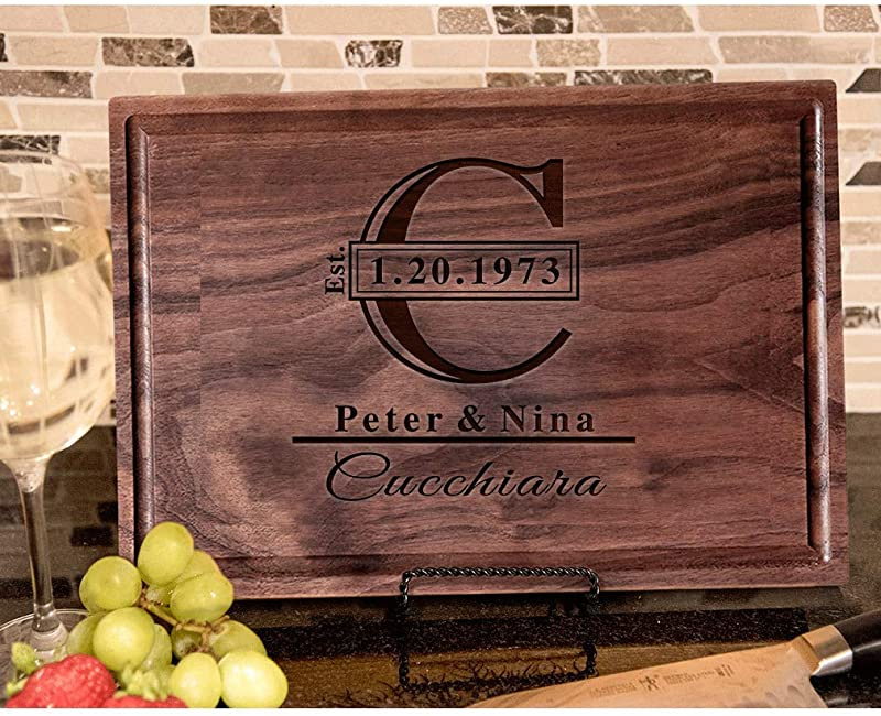 Housewarming Gifts Personalized Cutting Board Gifts Personalized Wooden Engraved Cutting Boards Perfect Wedding Anniversary Closing Gifts Present For The Couple Mom Dad Grandma Newlyweds