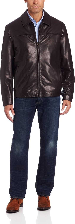 Cole Haan Men's Smooth Lamb Zip Front Jacket