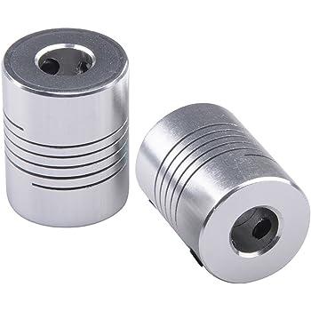 Invento 2pcs 5 x 8mm Aluminium Flexible Coupling for Nema 17 Z Axis 3D Printer CNC DIY
