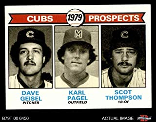 1979 Topps # 716 Cubs Prospects Dave Geisel/Karl Pagel/Scott Thompson Chicago Cubs (Baseball Card) Dean's Cards 8 - NM/MT Cubs