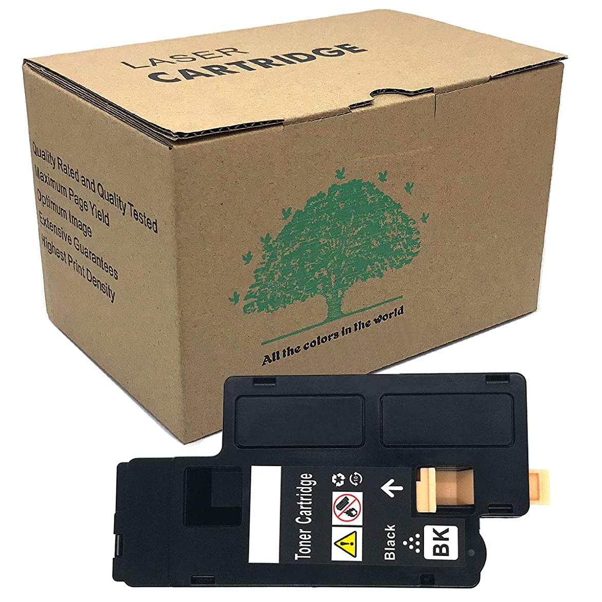 Dell C1760nw Toner Black Cartridges Compatible for Dell C1765nfw/1250/1350cnw /1355cn/C1765nf/1250c/1355w Color Printers( Toner is Imported From Japan)