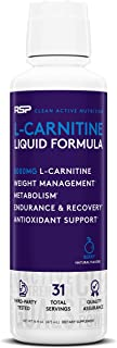 RSP Liquid L-Carnitine 3000: Natural Weight Management and Metabolism Booster, Stimulant Free L Carnitine, Max Strength fo...
